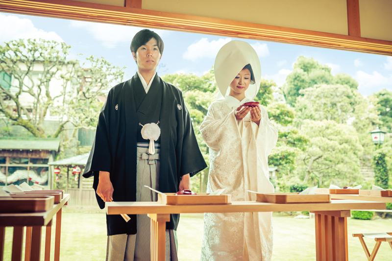 長崎の結婚式 長崎の料亭ウェディング 神前式 少人数ウェディング
